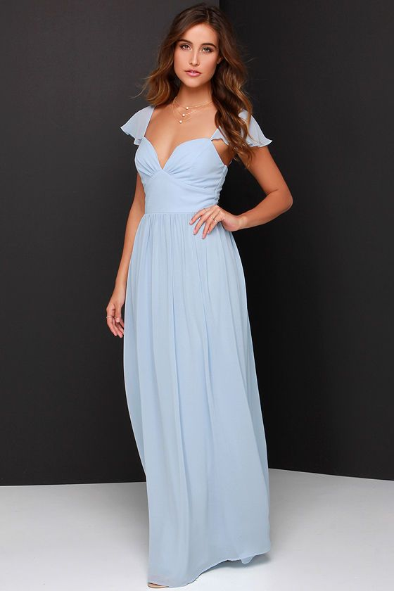 Thought this was so pretty and feminine. Evening of Bliss Light Blue Maxi Dress at Lulus.com!