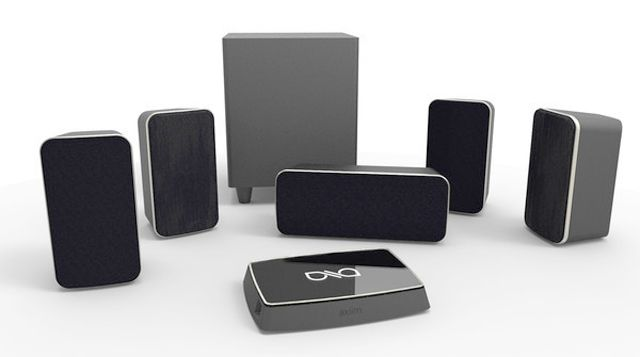 Wireless home theater takes another step forward as Axiim announces its first home theater system product with wireless speakers.