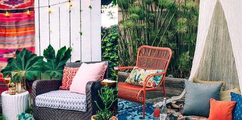 Летнее платье для сада: цветовые акценты для террасы и сада
