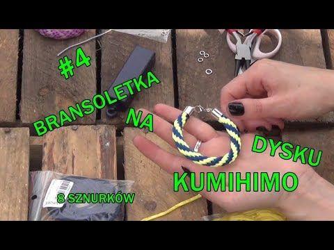 Biżuteria #4 Bransoletka na dysku kumihimo. Splot na 8 sznurków. - YouTube