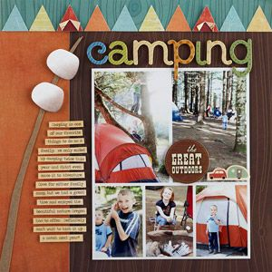 camping scrapbook page ideas - Google Search