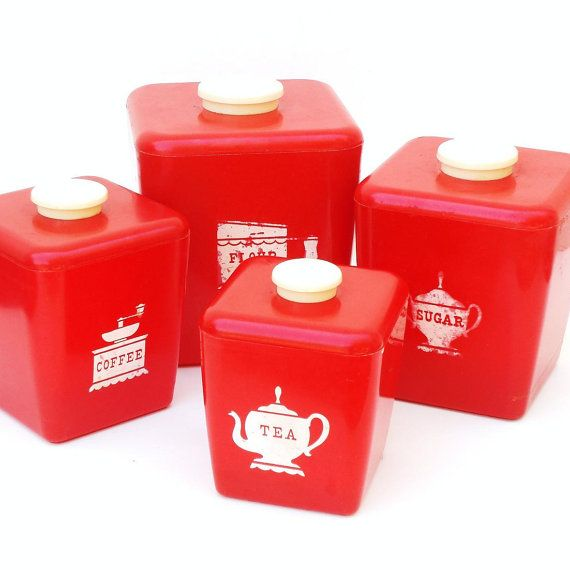 The 25 Best Red Canisters Ideas On Pinterest Red Kitchen Canisters Kitchen Canister Sets And