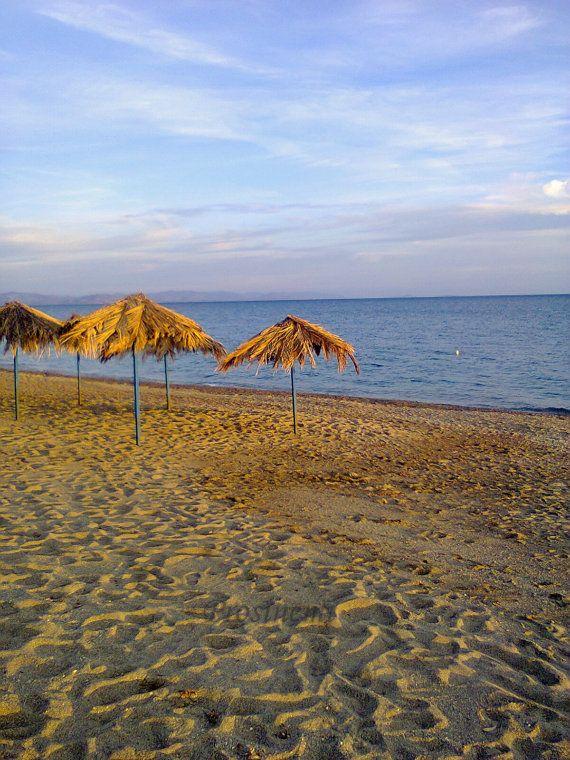Beach photo  umbrellas on the beach summer photo by prosinemi, €10.00