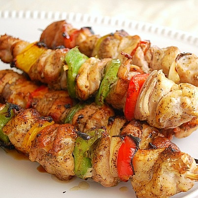 Mediterranean Kabob Party!:  A summer cookout with a bit of ethnic flair and a DIY kabob bar!