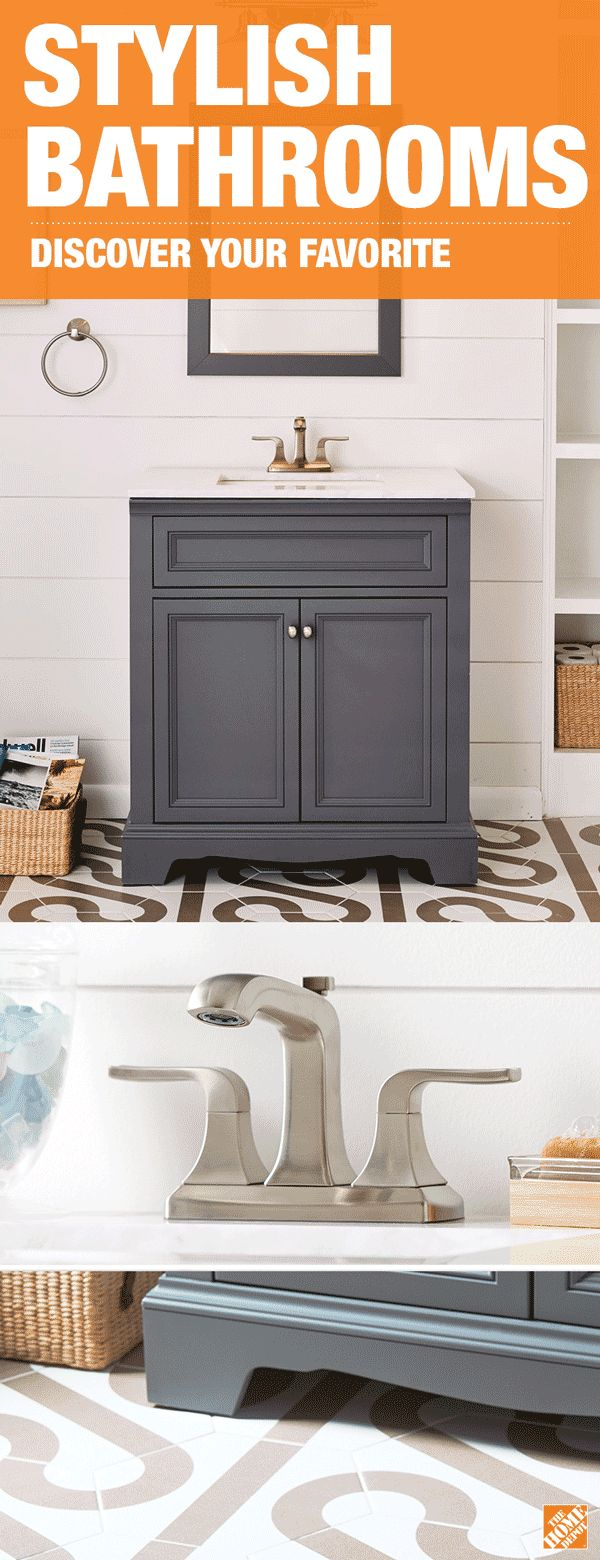 shop our bath department to customize your windsor park gray collection today at the home depot - Home Depot Bathroom Design Ideas