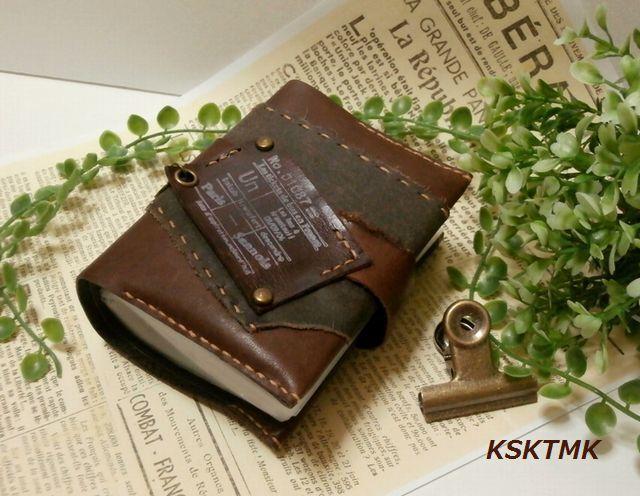 ハンドメイドマーケット+minne(ミンネ)|+古書のようなBOOK型カード名刺ホルダー