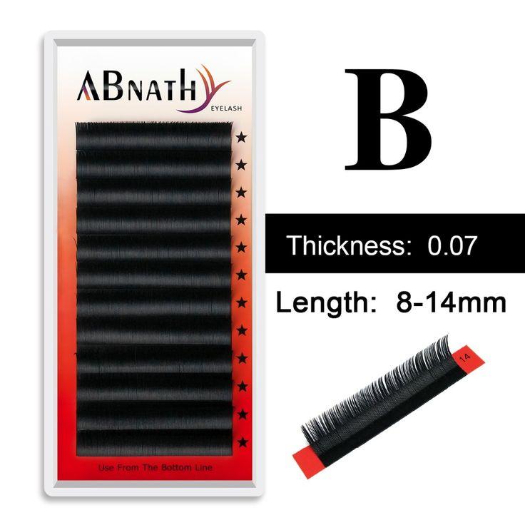 Abnathy lashes 0.07 B black soft human hair permanent  fake eyelashes extensions individual eyslash fake false eye lashes