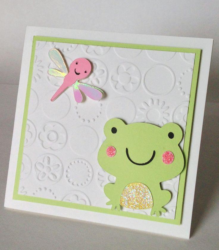 Baby shower card using create a critter cricut cartridge