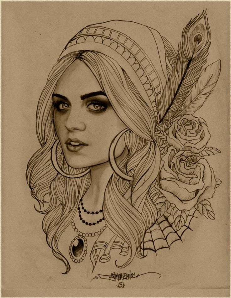 Gypsy print by b2rianls on Etsy, $12.00