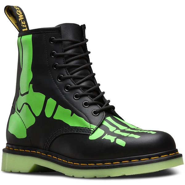 Dr. Martens Skelly Foot Skeleton Boots Ladies