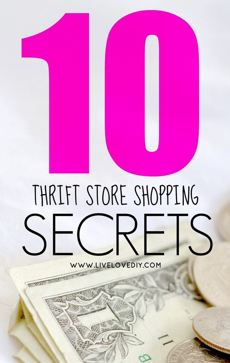 10 Thrift Store Shopping Secrets You Should Know!