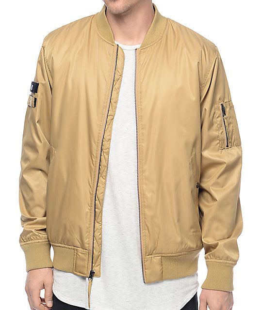 Fairplay Braeden Tan Bomber Jacket