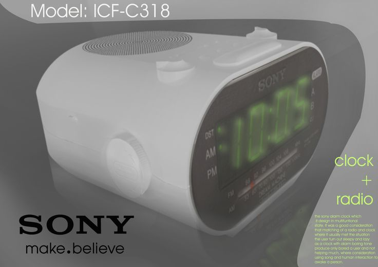 Digital poster design for radio alarm clock
