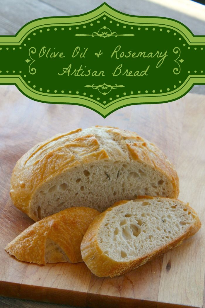 Olive Oil and Rosemary Artisan Bread, Artisan Bread Recipe, Homemade Bread Recipe, Herb Bread Recipe