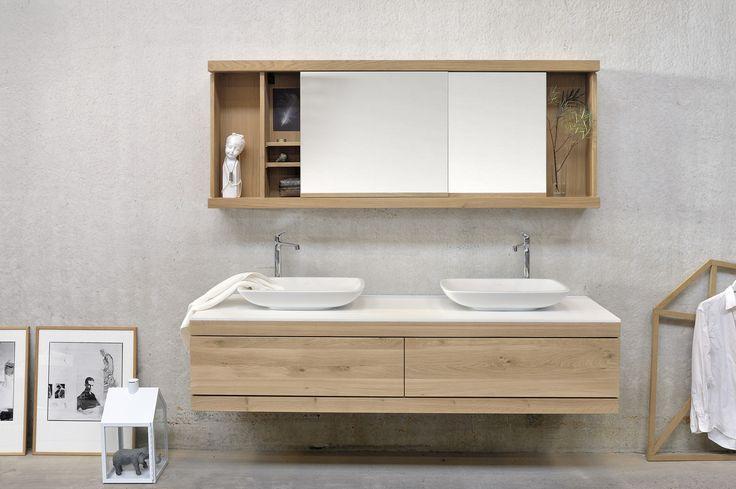 Doppel  Waschtischunterschrank Aus Massivem Holz Mit Schubladen OAK CADENCE    Doppel  Waschtischunterschrank   Ethnicraft