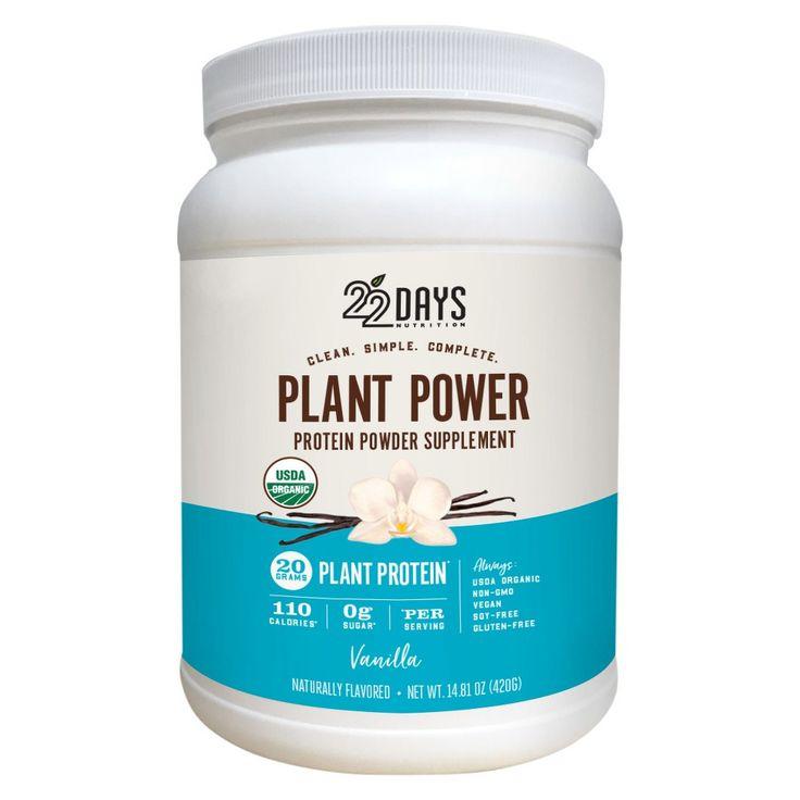 22 Days Nutrition Vanilla Protein Powder - 14.81Oz