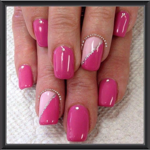 dark pink nails ideas