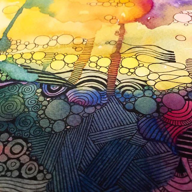 In progress abstract  18x24cm www.facebook.com/AnnaLipowskaArt (2016)  #inprogress #linework #micronpen #doodle #abstract #interior #penart #decor #poster #daily_art #sketch #акварель #aquarelle #illustration #drawing #watercolor #painting #ink #art #artwork #ilustrator #artist #arte #scandinaviandesign #modernart #zenart #colorful