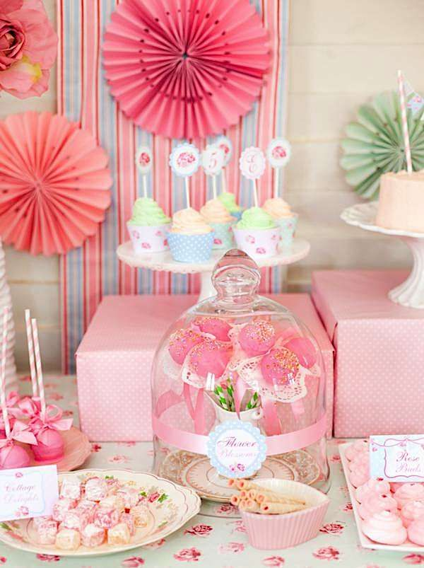shabby chic princess girl pink vintage party planning ideas