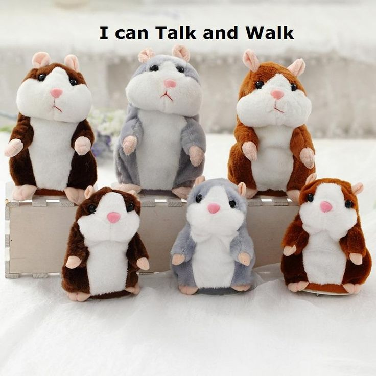 Cute Walking & Talking Sound Record Hamster Educational Repeat Sound Language Plush Toy