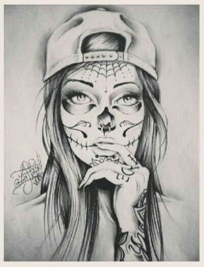 """Picture result for the tattoo template """"la catrina"""" – # picture #catrina # for #LA # … #flowertattoos"""