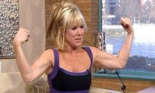 Former EastEnder Letitia Dean showed off her astonishing new slimline physique by flexing her muscles on live television today. The 41-year-old was promoting her new fitness DVD Letitia Dean's Lean Routine on This Morning when she decided to prove just what great shape she's in.