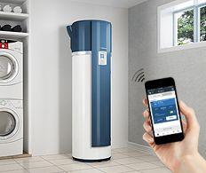 Chauffe-eau thermodynamique Aéromax 4 de Thermor pilotable à distance depuis un smartphone ou une tablette.