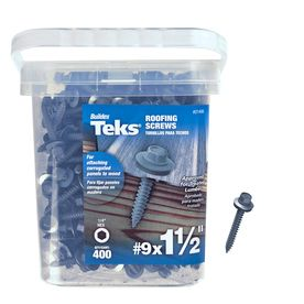 Teks 400-Count #9 x 1.5-in Zinc-Plated Self-Drilling Interior/Exterior Roofing Screws
