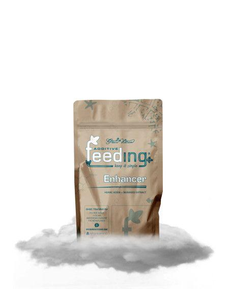 ENHANCER GREEN HOUSE FEEDING POWDER  Enhancer de Green House son Ácidos húmicos y Extracto de Algas  biopotenciador es una mezcla de ácidos húmicos, extracto de algas marinas, las cepas de Trichoderma harzianum y Bacillus subtilis. Aumenta la vitalidad de la planta, mejora la absorción de nutrientes y mejora la calidad del suelo.
