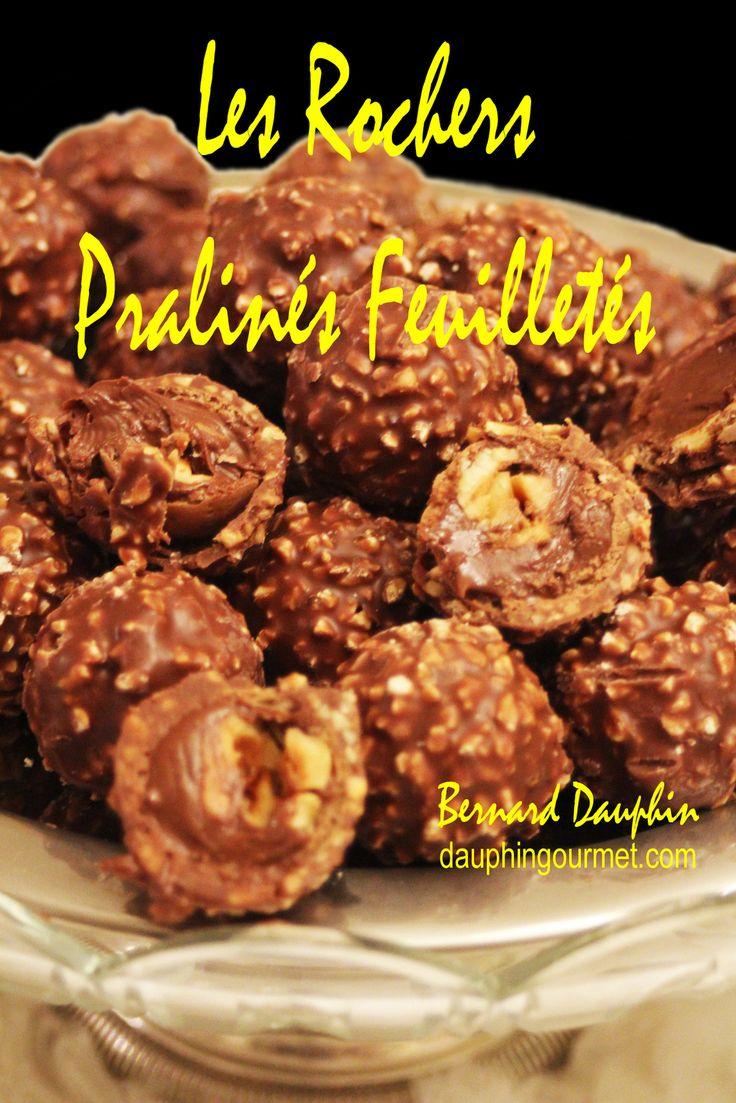 CHOCOLATS DE NOEL : LES ROCHERS PRALINES FEUILLETES