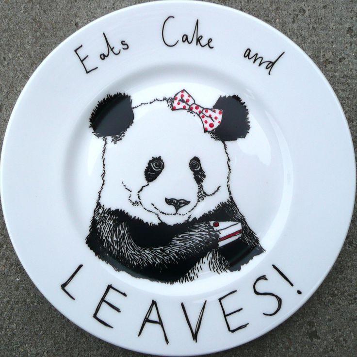 Eats Cake and Leaves side plate. $35.00, via Etsy.