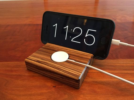 Apple Watch 2 iPhone Docking Station by ARKaufmanWoodworks
