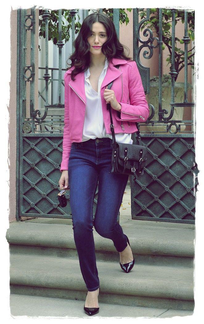 Emmy Rossum Street Style 2014