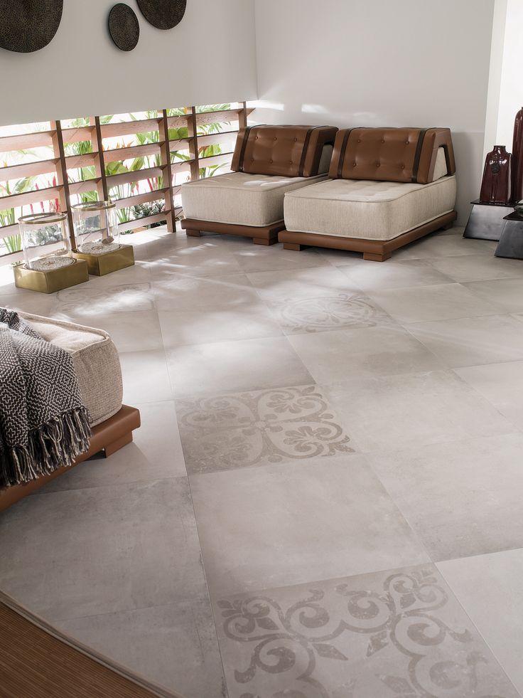 Vloertegels Tribeca Acero, leverbaar in 59,6x59,6 en in 80x80. Ook de decors !