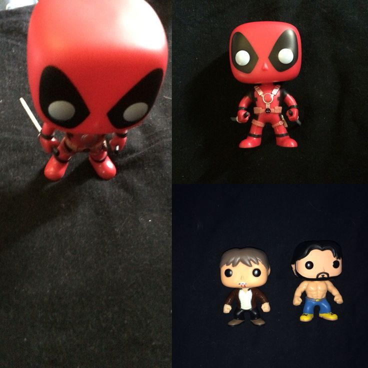 New pop vinyls - 6.3.16  Deadpool with swords , Alcide Hervaux and Bill Compton from True Blood  #deadpool #TrueBlood #funkopopvinyl