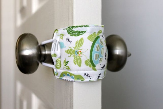This baby room door jam allows you to open and shut the door quietly without waking your baby.