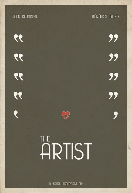 $50.00  Limited edition The Artist minimalist movie poster by Hunter Langston