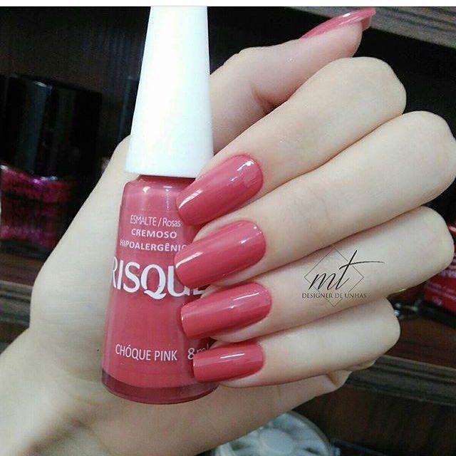 """333 curtidas, 2 comentários - Blog Unhas Divas (@blogunhasdivas) no Instagram: """"Chóque pink - @risqueoficial . By @unhasmyllitiradentes"""""""