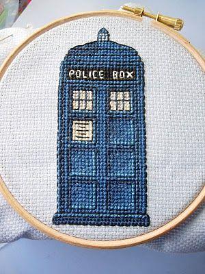 Tardis cross stitch.