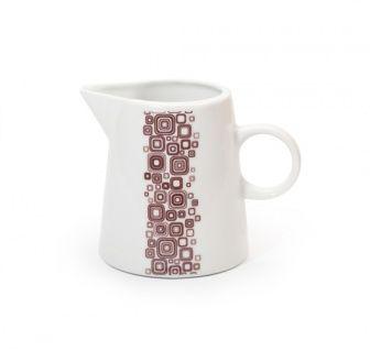 Bricco da latte Q-Deco  Bricco per il latte collezione Q-Deco, ispirata all'Art-Decò.  In porcellana liscia bianca dipinta a mano.  Capacità: 150ml  E' possibile lavarlo in lavastoviglie ed è resistente al forno a microonde.   #aurile #FMGroup #FMGroupItalia #tè #tea #teatime