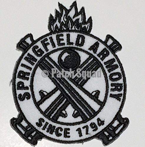 Springfield Armory Since 1794 Logo Emroidered Iron on Patch By Patch Squad