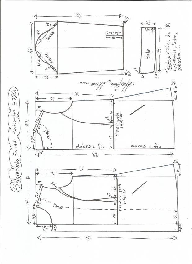 Patrón de abrigo largo entallado | Costura y moda todos los talles ...