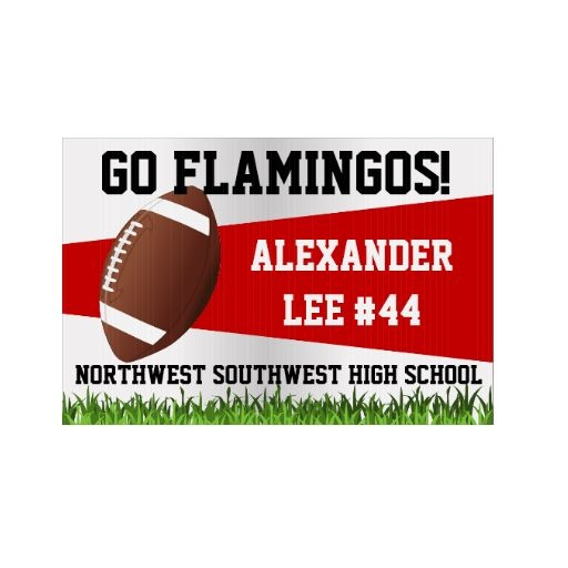 Football Yard Sign, Custom Name/School. More colors available... www.zazzle.com/customsigns*/football+yard+signs
