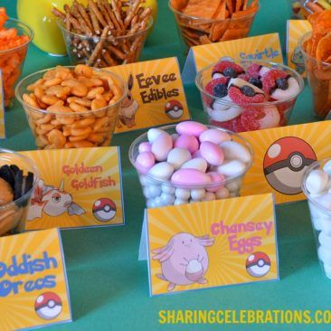 Pokemon Snack Bar – Sharing Party Ideas
