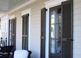 french doors with external shutters