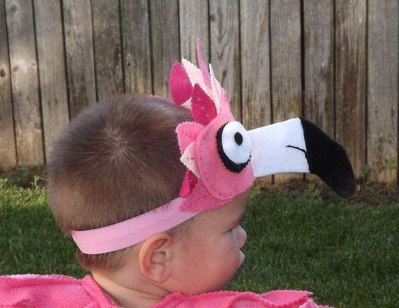 Flamingo Pink Bird Headpiece Children