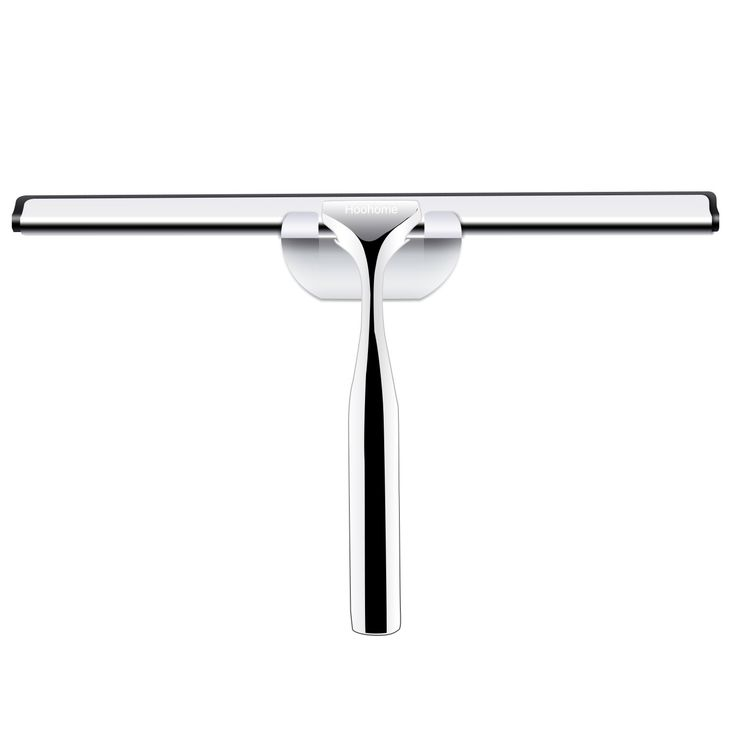 Hoohome Shower Squeegee, Stainless Steel Window Squeegee for Bathroom & Car Mirror, Windows and More