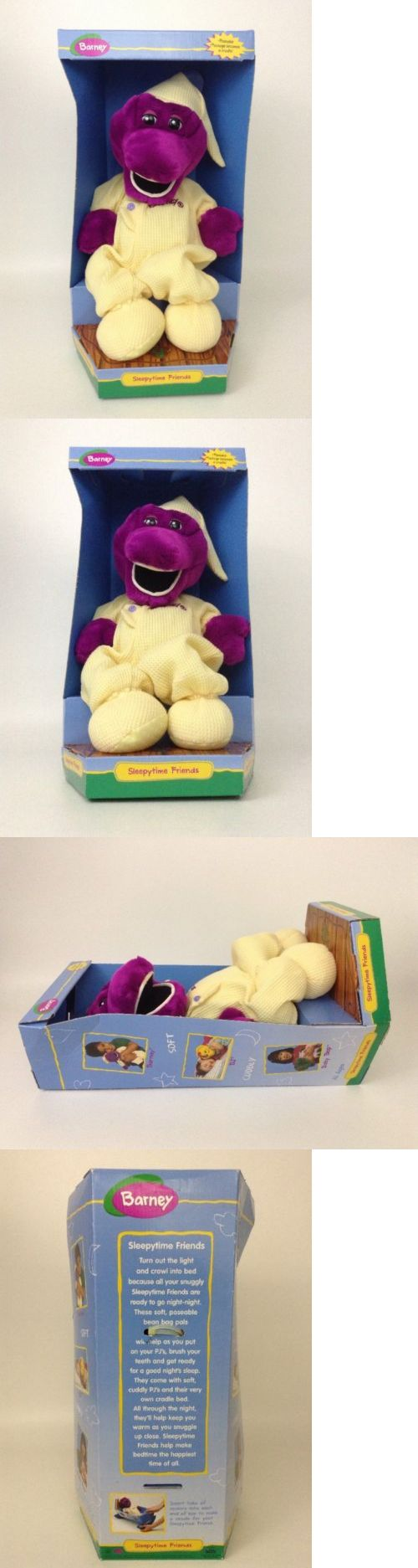 Barney 2625: Vintage 1998 Sleepy Time Friends Barney The Dinosaur Poseable W Package Cradle -> BUY IT NOW ONLY: $44.95 on eBay!