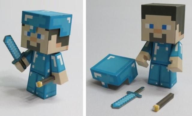 Papercraft Minecraft Sets