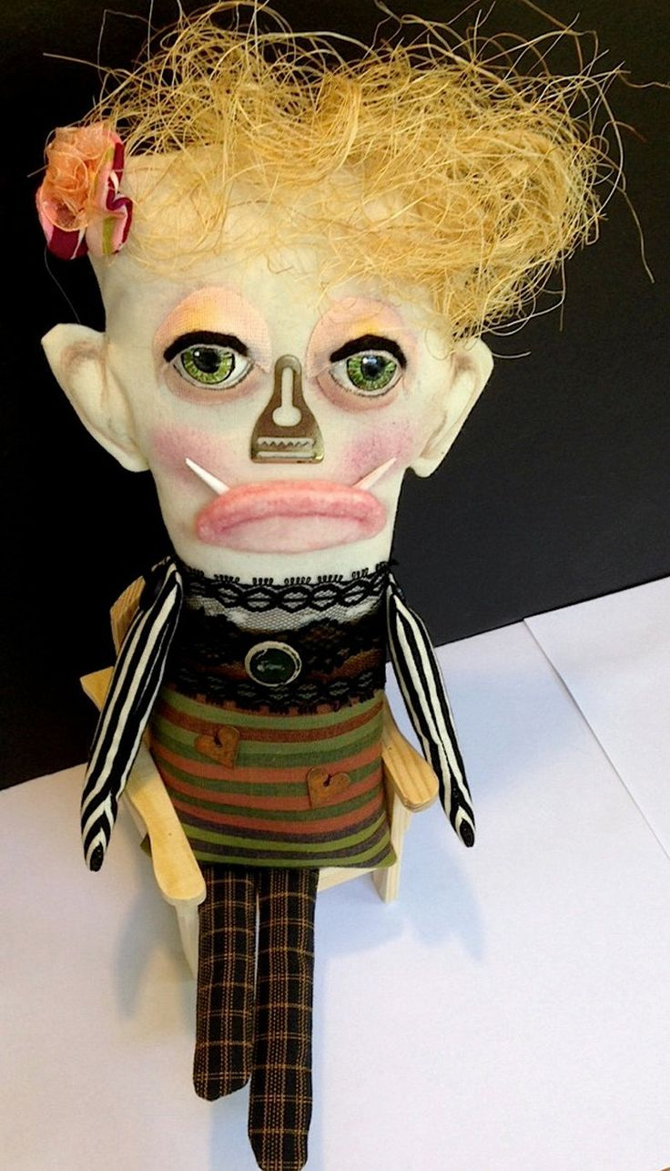 Googly Baby Monster Hannah Ugly Clown Creepy Monster Art Doll by AnnaDolls on Etsy